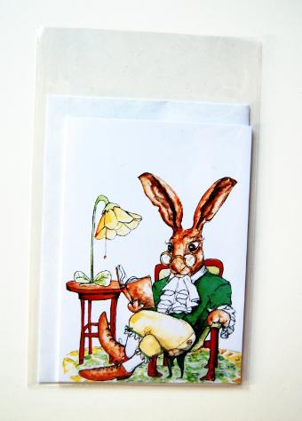 Haren läser